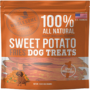 Wholesome Pride Pet Dog Treats Sweet Potato Fries Dog Treats