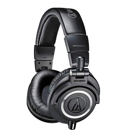 Audio-Technica ATH-M50x Professional Studio Monitor Headphones With Detachable Cable